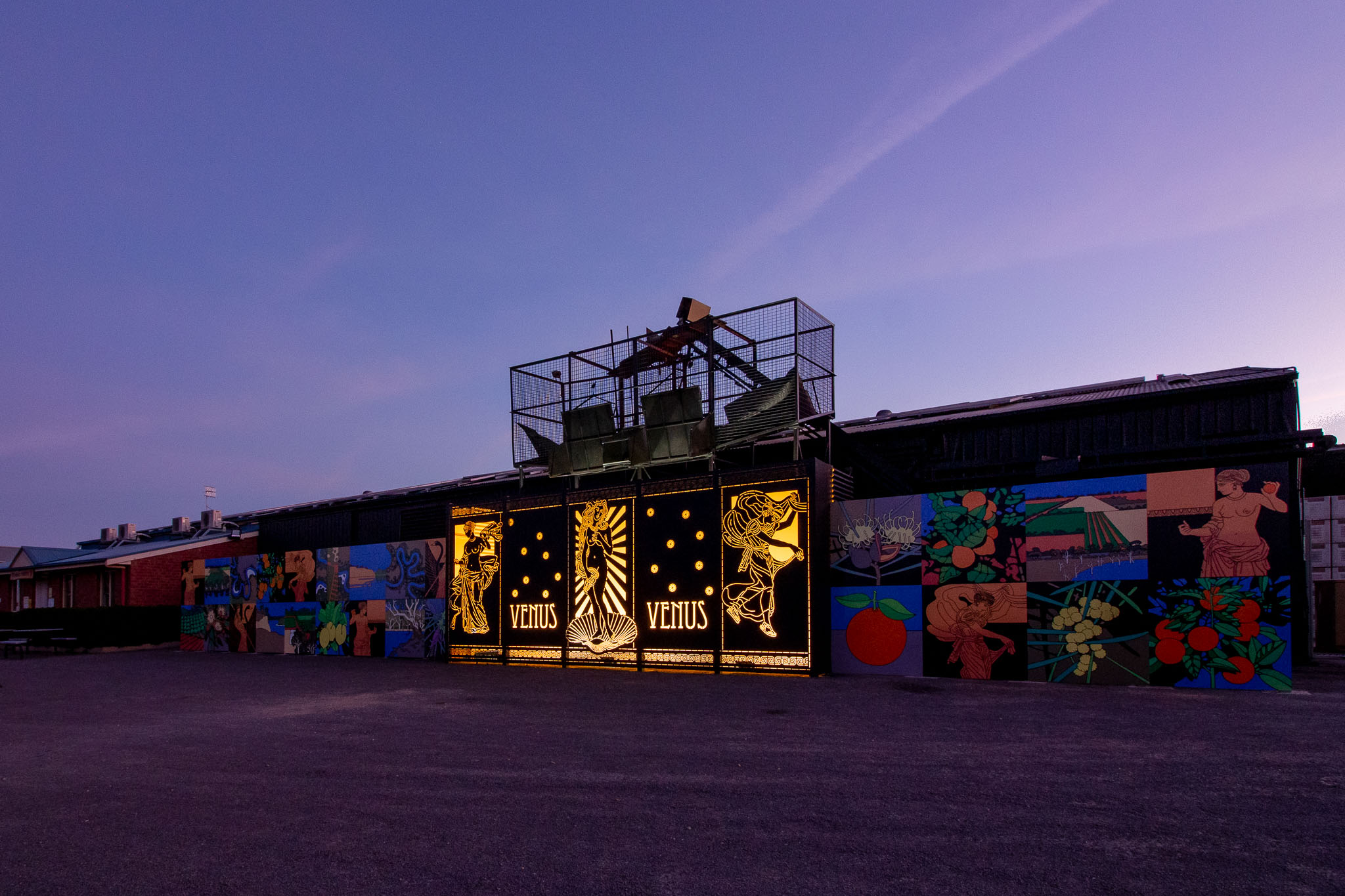 mural, loxton, promotional, twilight